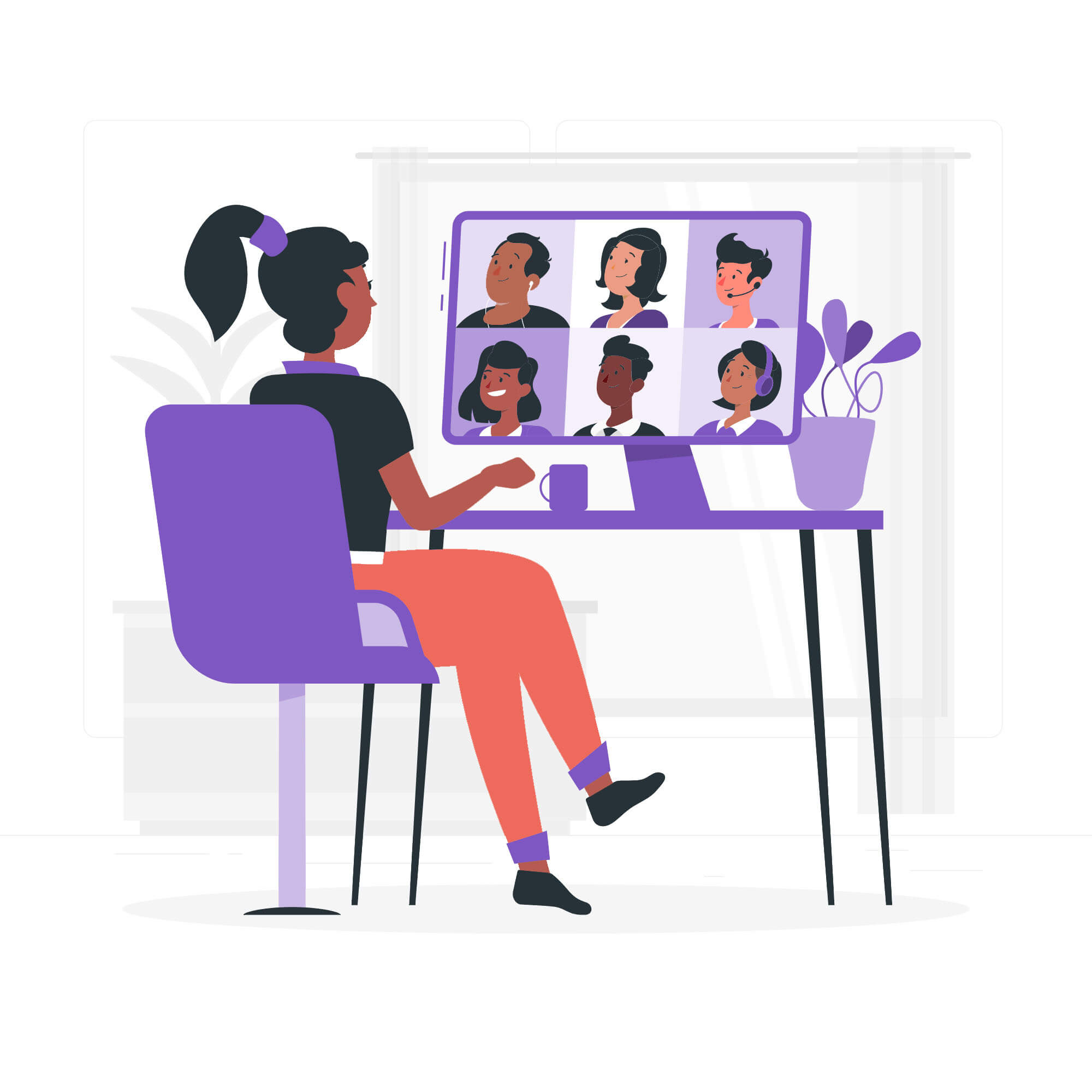black virtual meeting