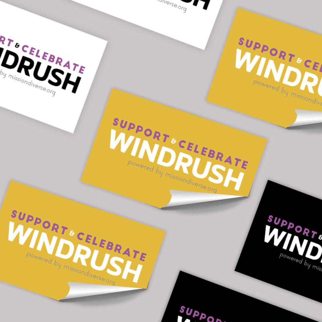 Windrush With Pride Sticker