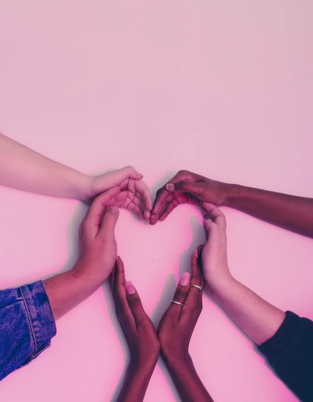 Diverse Hands in A Heart